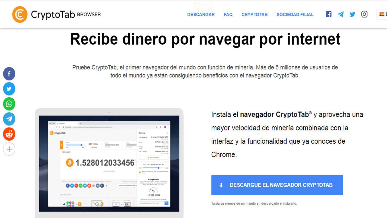 Opiniones: CryptoTab: un navegador para minar criptomonedas mientras navegas