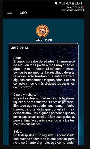 horóscopo aplicación