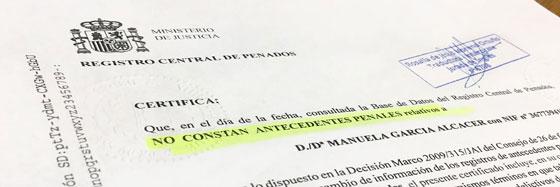 Antecedentes penales España