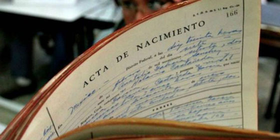 certificado nacimiento España